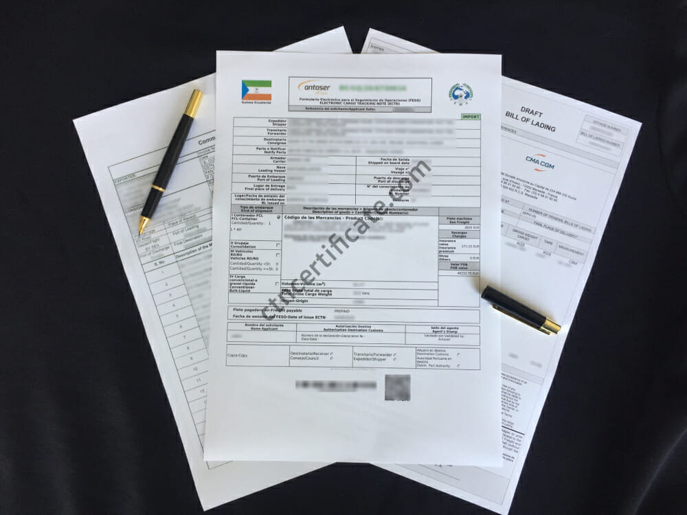 Equatorial Guinea ECTN Certificate