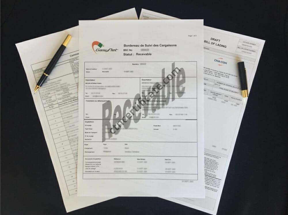 Madagascar BSC Certificate