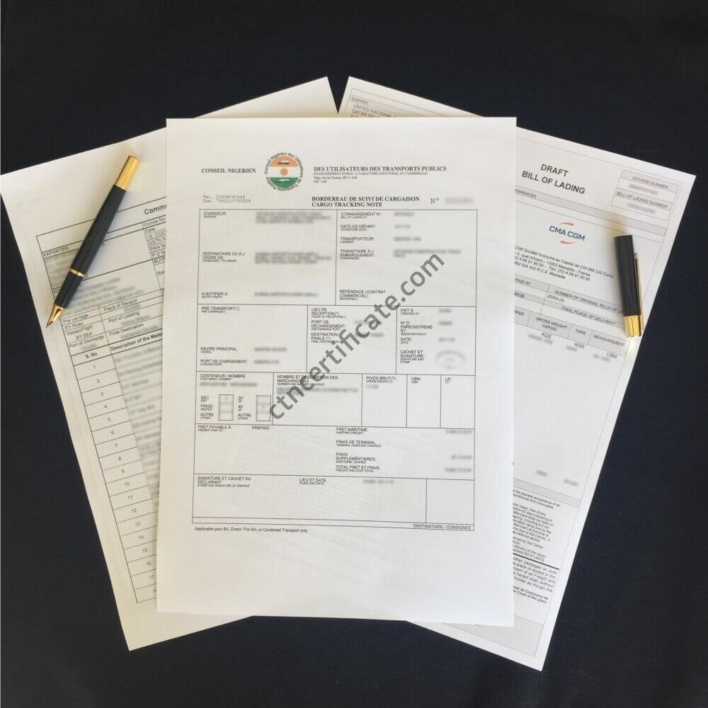 Niger BSC Certificate