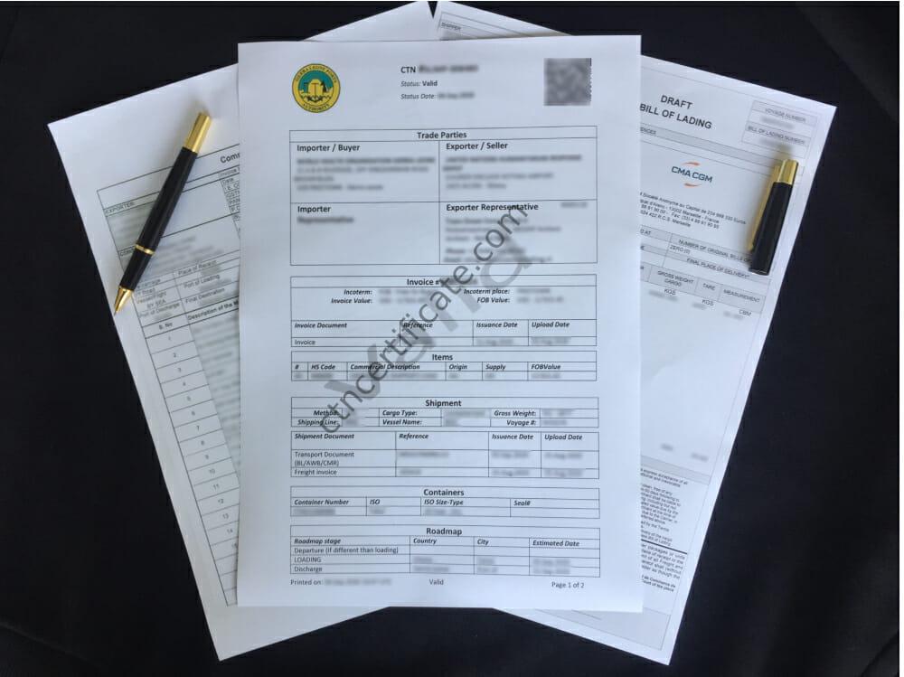 Sierra Leone ENS Certificate